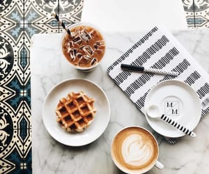 cappuccino and waffles image