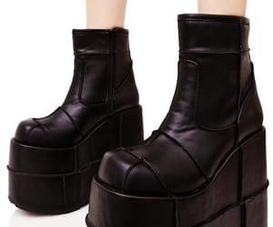 shoes, platform boots, and platform image