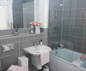 bathroom, grey, and home image