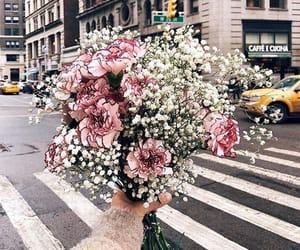 beauty, flowers, and girlie image