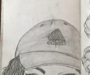 adidas, cap, and sketchbook image