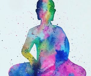 art, buddhism, and colors image