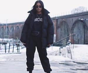 black, fashion, and streetwear image