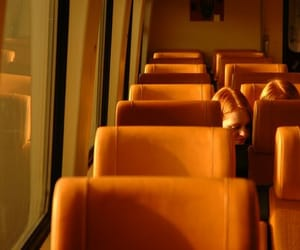 orange, aesthetic, and bus image