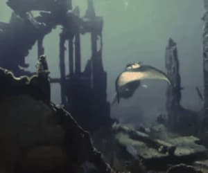 gif, real mermaid, and swimming mermaid image