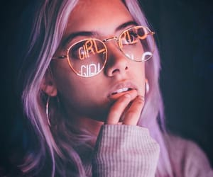 girl, photography, and purple image