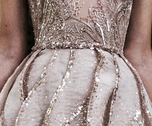 dress, tumblr, and rose gold image