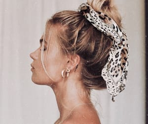 hair accessory, earring, and hair scarf image