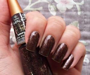 brilho, glitter, and manicure image