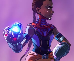black panther, genious, and girl power image