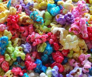 popcorn, food, and colorful image