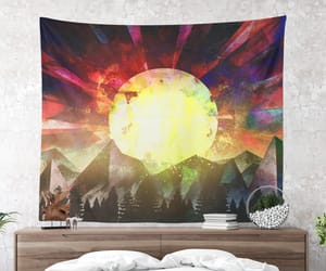 tapestry, wanderlust, and wall tapestry image
