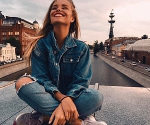 girl, fashion, and smile image
