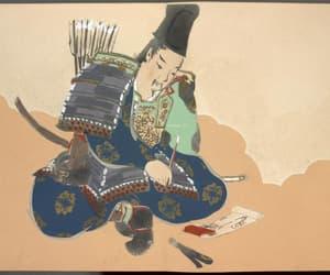 antique, japanese art, and samurai image