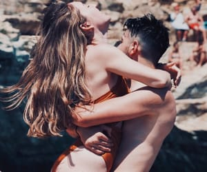 beach, beauty, and couples image