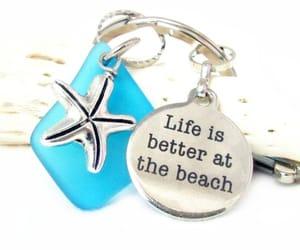 etsy, starfish keychain, and beach keychain image