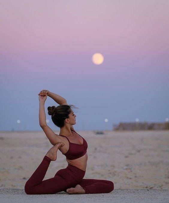 sky and yoga image