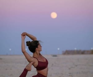 yoga and sky image