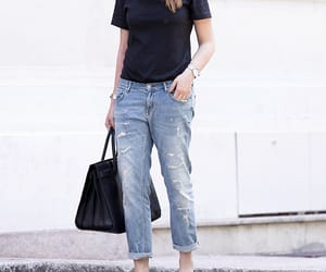boyfriend jeans and ripped jeans image