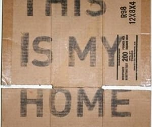 cardboard, home, and this is my home image