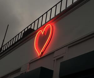 heart, neon, and red image