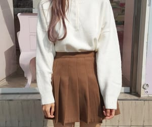brown, korean fashion, and outfits image