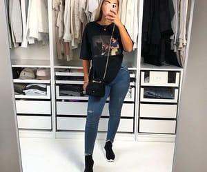 Balenciaga, fit, and graphic tee image