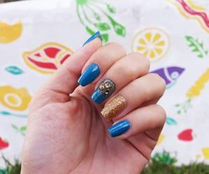 girly, nails, and gold nails image