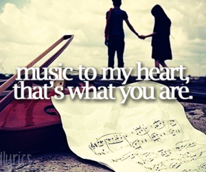 love, music, and girl image