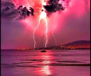 lightning, pink, and purple image