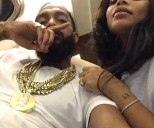 couple, nip, and lauren london image