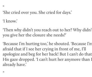 afraid, closure, and cry image