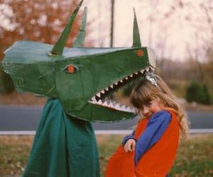 children, kids, and dinosaur image