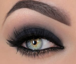 beauty, black, and lashes image