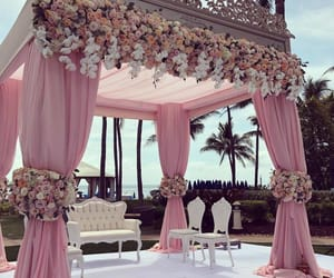 pink, ring, and wedding image