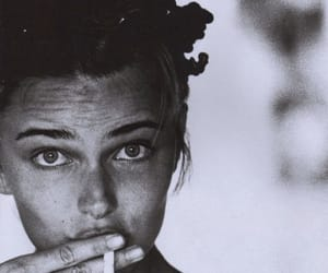 girl, cigarette, and eyes image