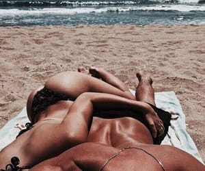 aesthetic, tumblr, and beach image
