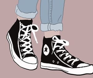 art, black, and converse image