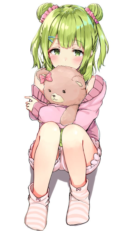 anime, blush, and nounours image