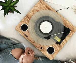 music, couple, and vinyl image
