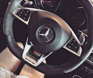 benz, car, and dress image