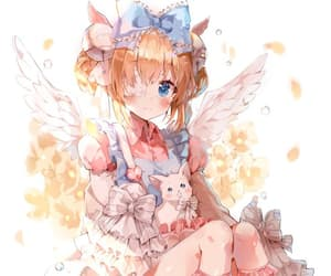 angel, girl, and gothic lolita image