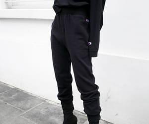 fashion, black, and champion image
