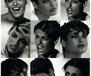 b&w, fashion, and linda evangelista image