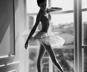 ballet, posing, and black and white image