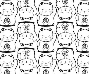 cats, maneki-neko, and patron image