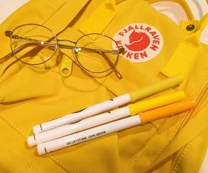aesthetic, fjallraven kanken, and yellow image