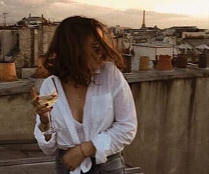 girl, wine, and paris image