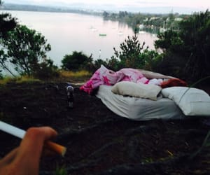 nature, bed, and cigarette image