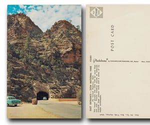 postcard, retro, and utah image